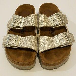 Birkenstock Arizona Soft Footbed Sandals Silver
